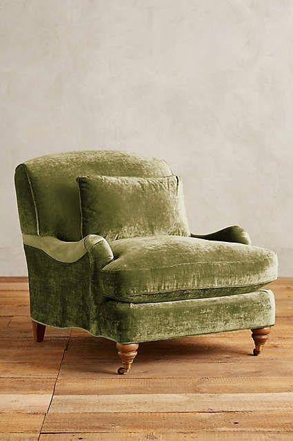 Slub Velvet Glenlee Chair - anthropologie.com
