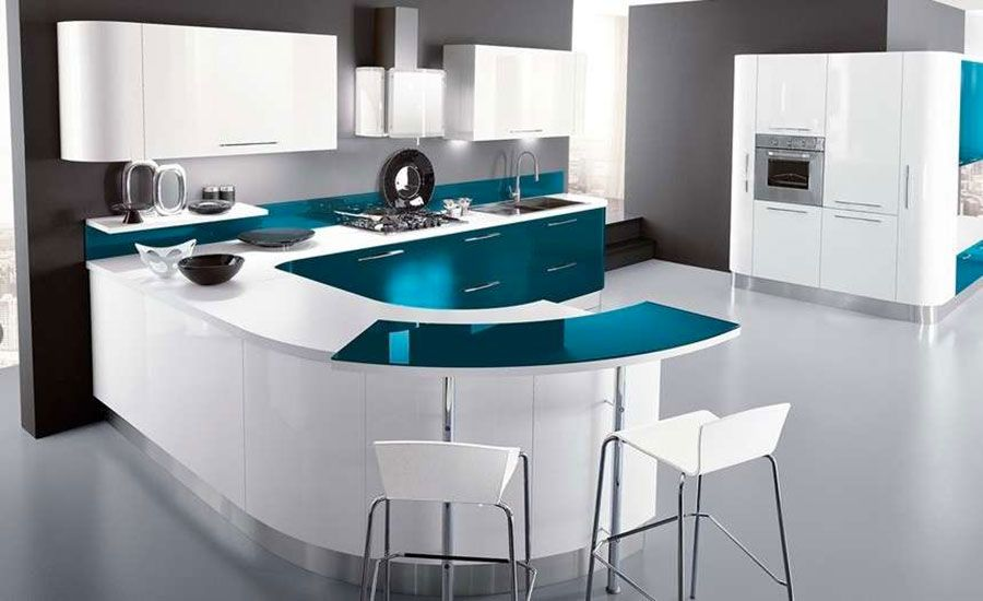 Cucina verde petrolio 20 modelli di design a cui for Cucine di design outlet