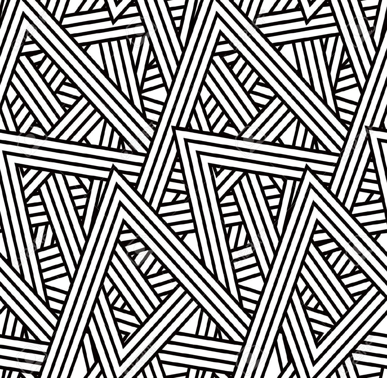 Seamless Triangle Pattern Art Deco Pattern Background Patterns Pattern