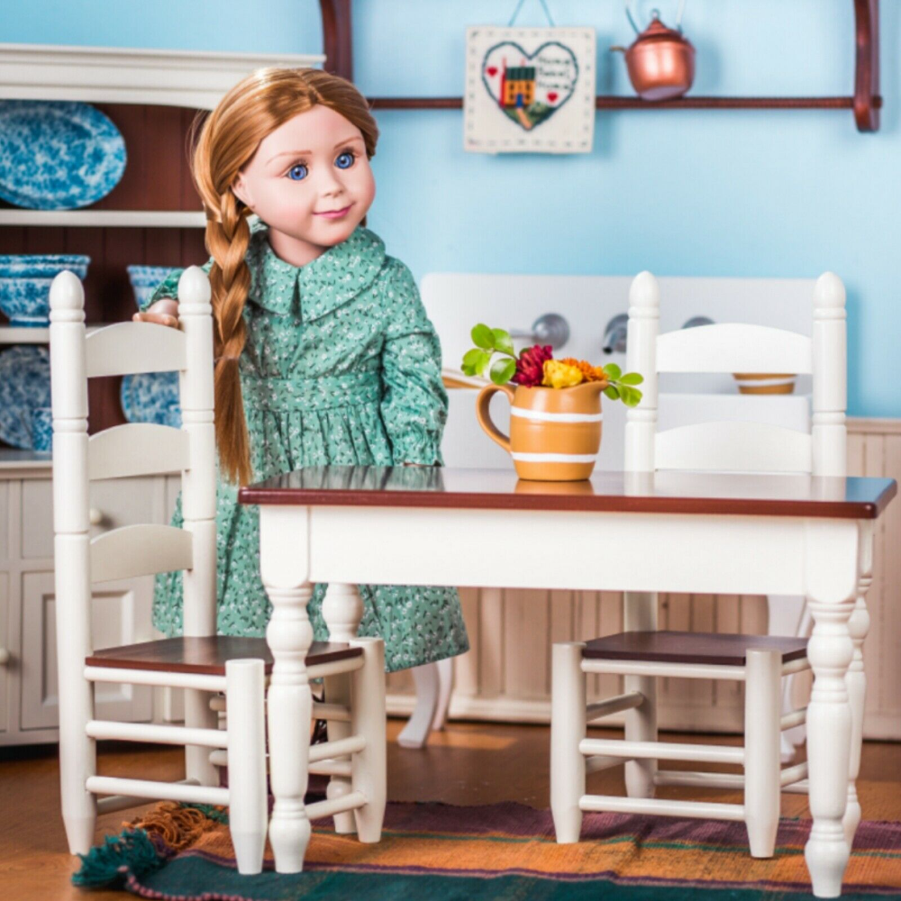 FACTORY SECOND 18 INCH Doll KITCHEN TABLE & CHAIRS For American Girl Furniture