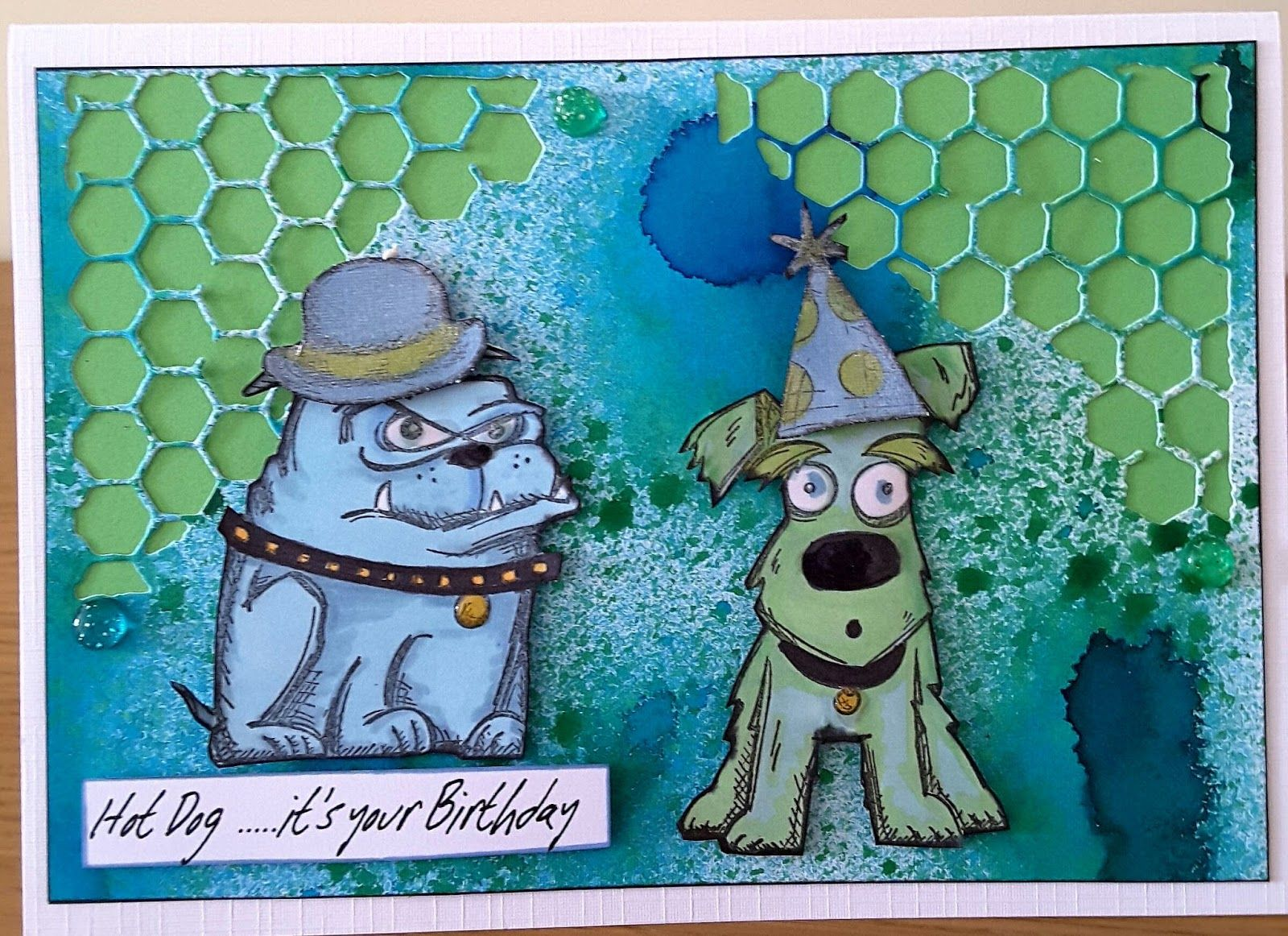 Focus on Papercraft Crazy Dog stamps by Tim Holtz another – Papercraft Birthday Card