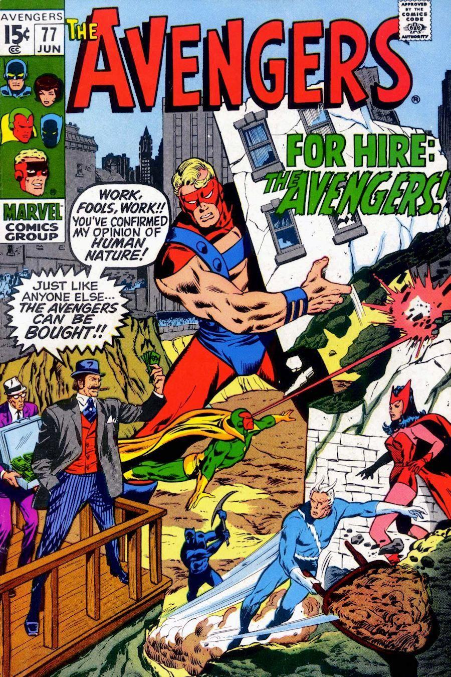 Avengers no 77 comics marvel comic books classic