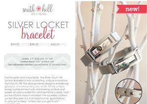 South Hill Designs New Silver locket bracelet
