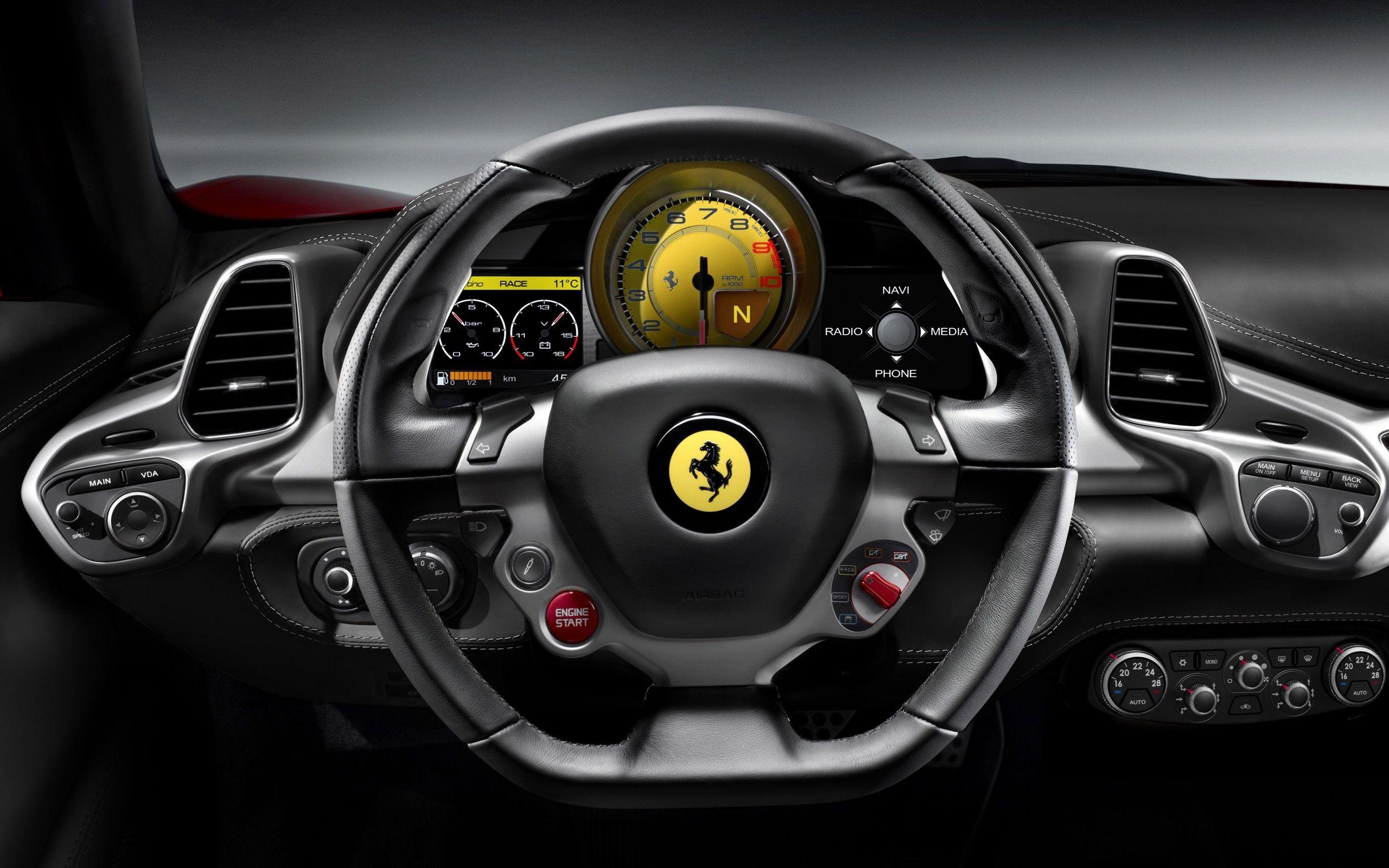 2010 Ferrari 458 Italia Steering Wheel Retina Macbook Pro Wallpaper Ferrari 458 Ferrari Ferrari Italia 458