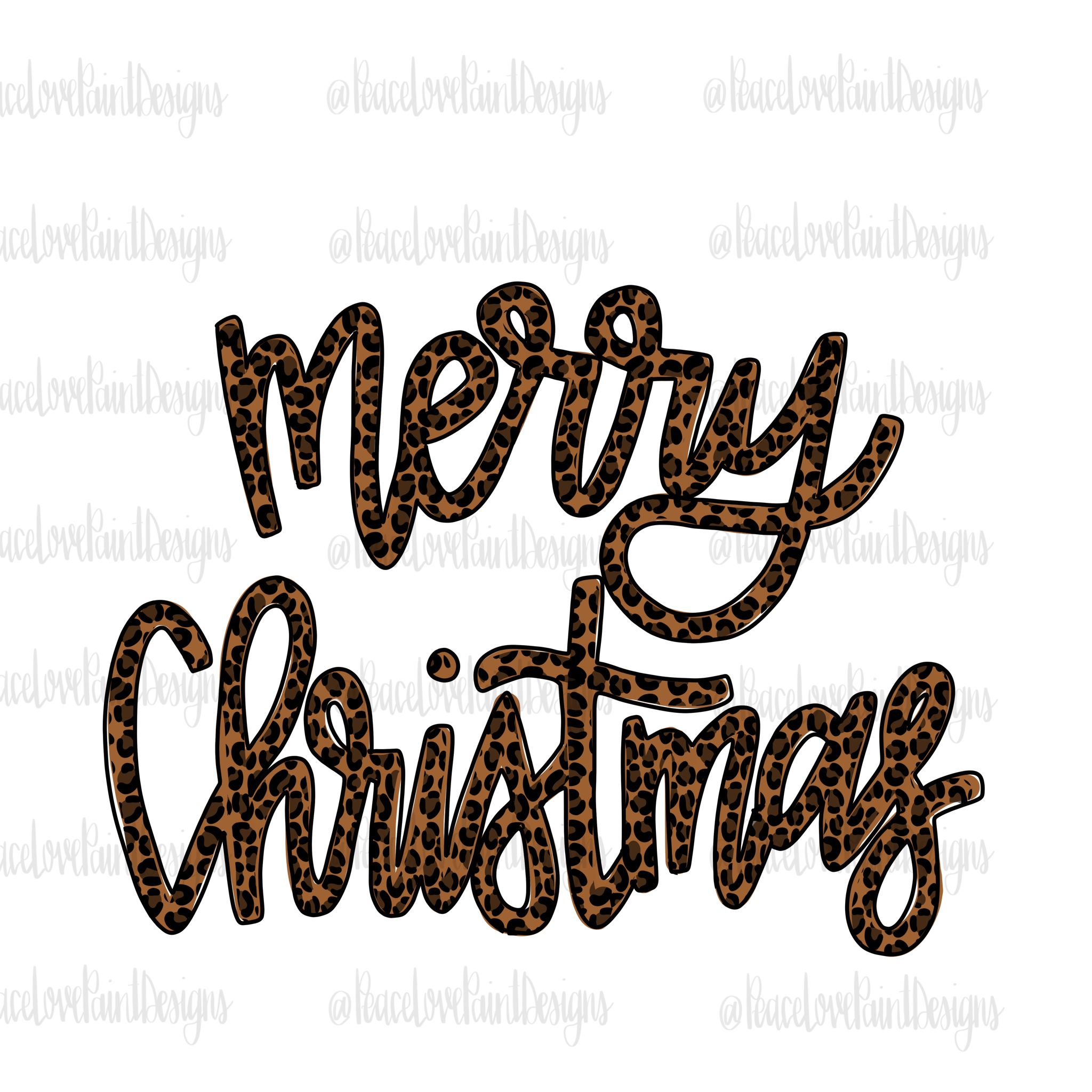 Merry Christmas Leopard Script Hand Drawn Sublimation Design How To Draw Hands Sublime Hand Art Drawing
