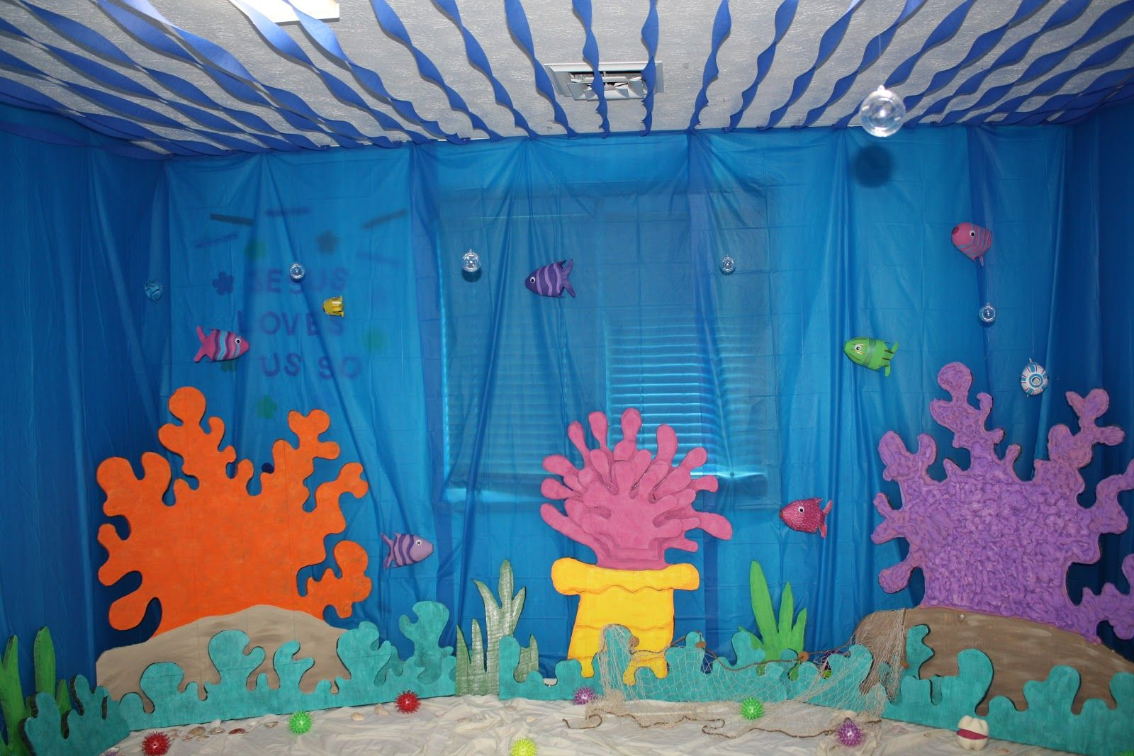 Beautiful Sea Themed Decorating Ideas Part - 13: Under The Sea Decorations For VBS Classroom