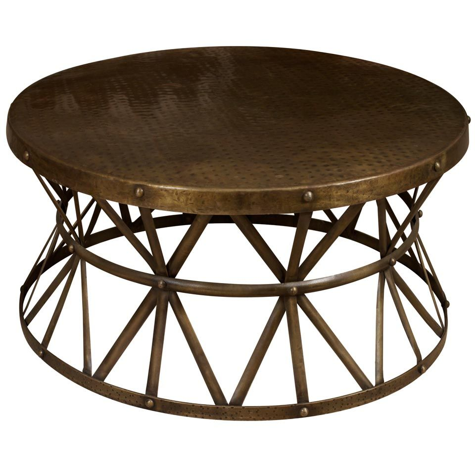 Circle metal coffee table coffee tables pinterest coffee circle metal coffee table geotapseo Choice Image