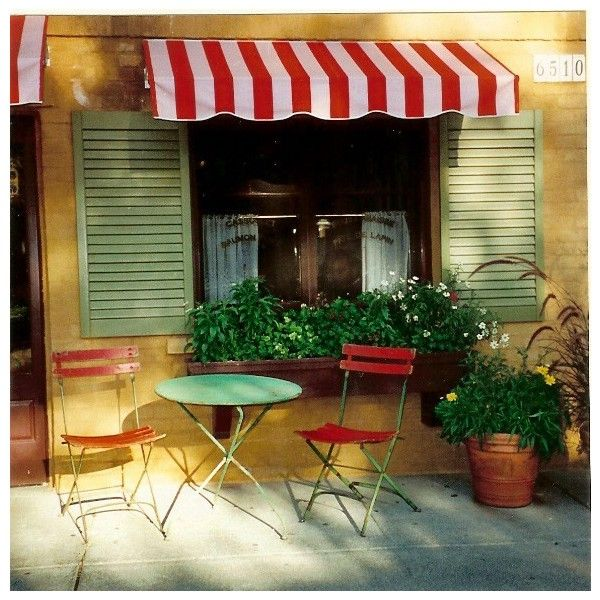 Creative Awnings Bring a Fun Café Feel Indoors found on Polyvore