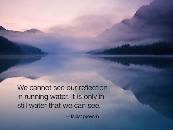 Cultivate calmness.
