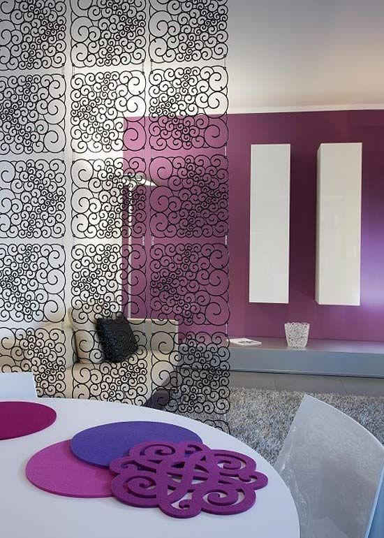 Divisorio ambienti dal design moderno pannelli decorativi ...