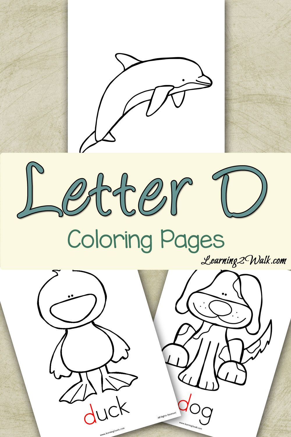 Letter Activities: Letter D Coloring Pages