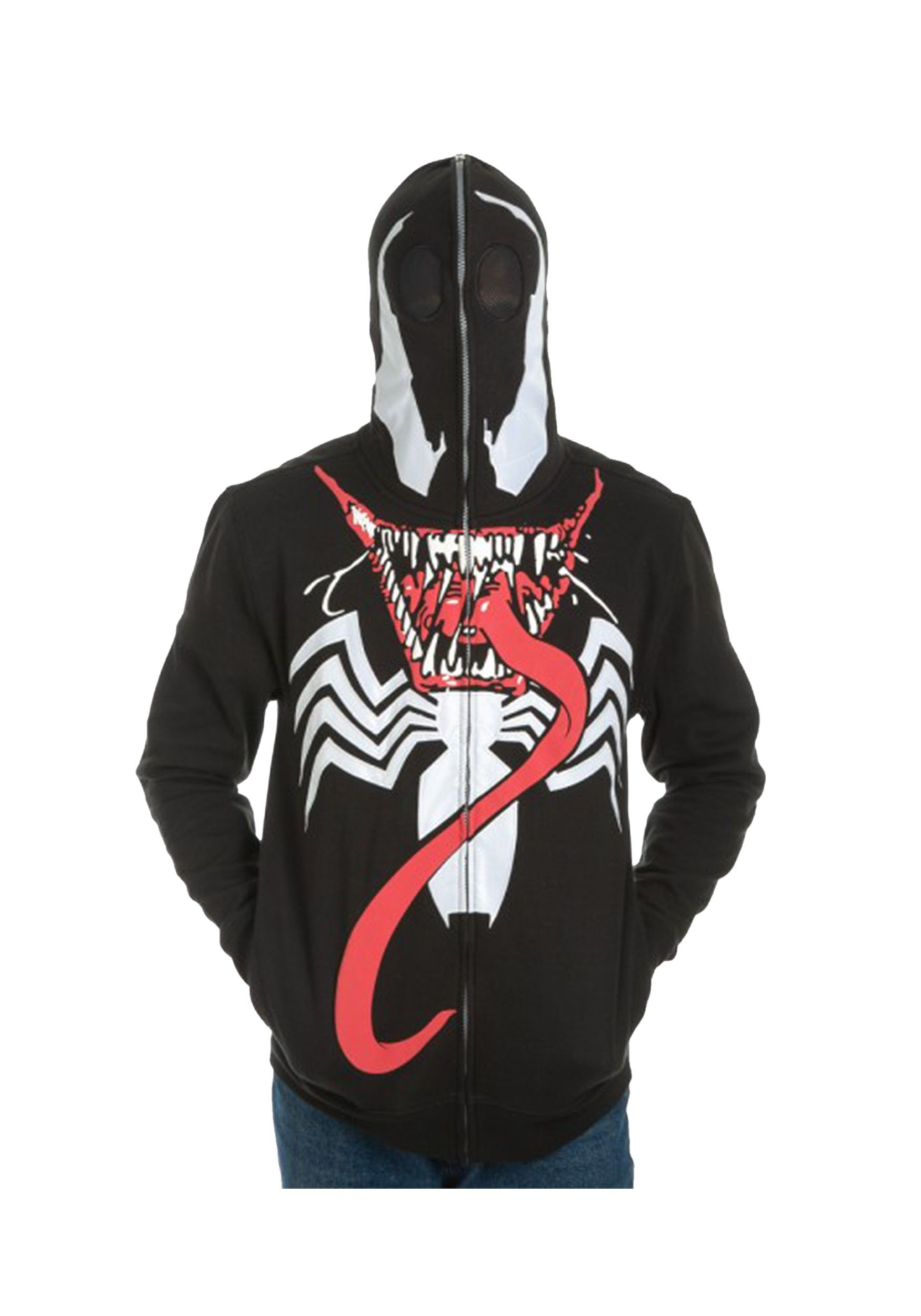 Venom Full Zip Mask Hoodie Hoodies, Spiderman costume