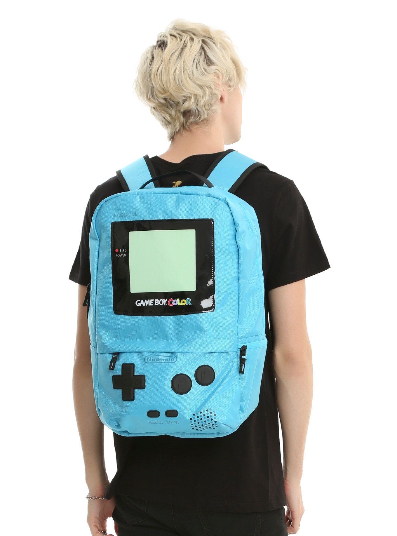 Game Boy Color Backpack  shutupandtakemyyen  gameboy  nintendo  backpack   bag  nintendomerch  Nintendomerchandise  retro  retrogaming  gameboycolor 79cdbd5a7d583