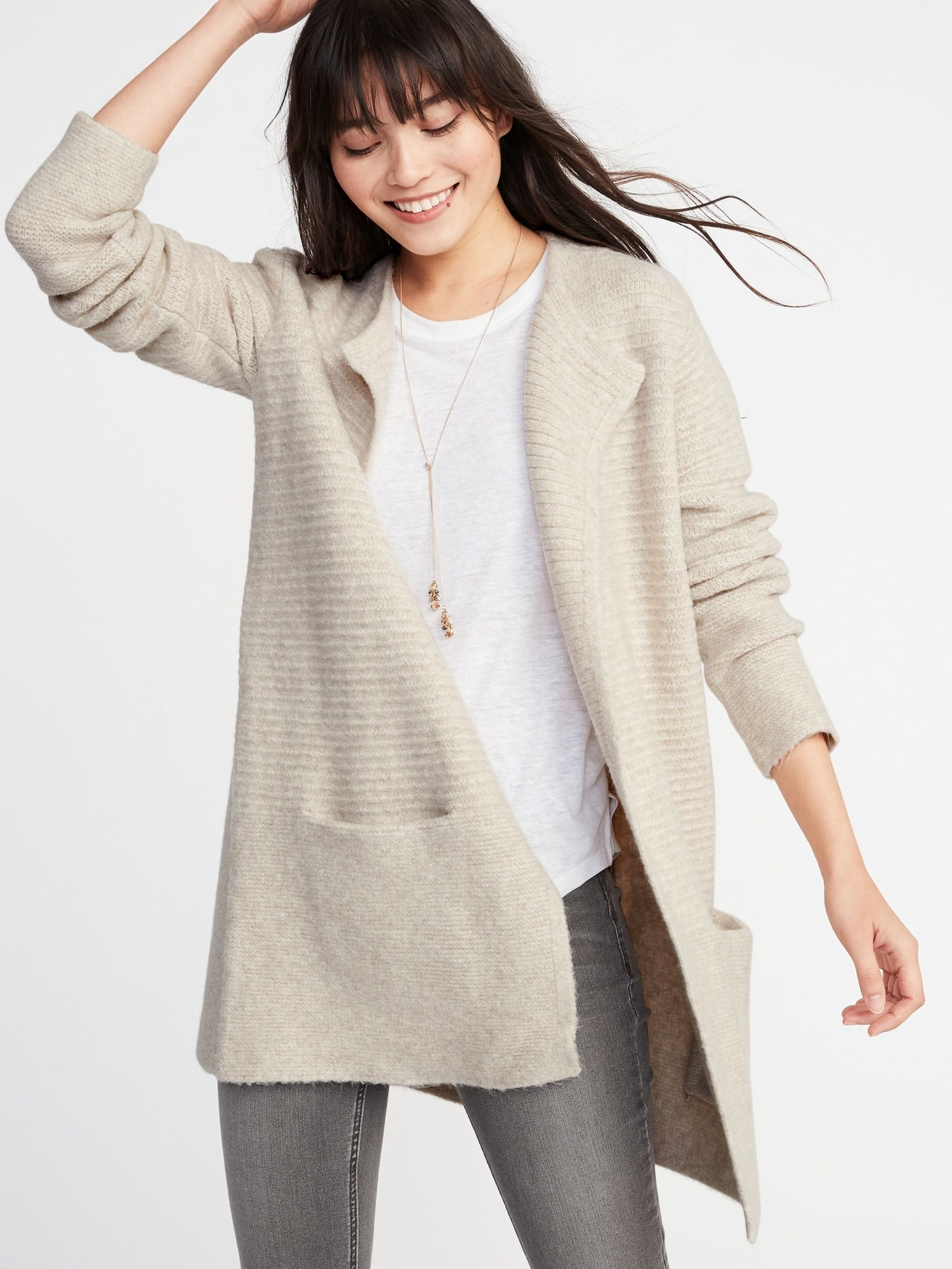 1bcc664ab467bf Open-Front Cardi-Coat for Women | Old Navy- medium | Clothes/Shoes ...
