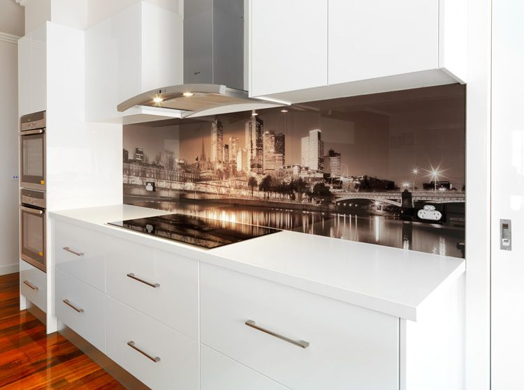 Kitchen Ideas Melbourne visual resource printed vr art glass splashback melbourne skyline