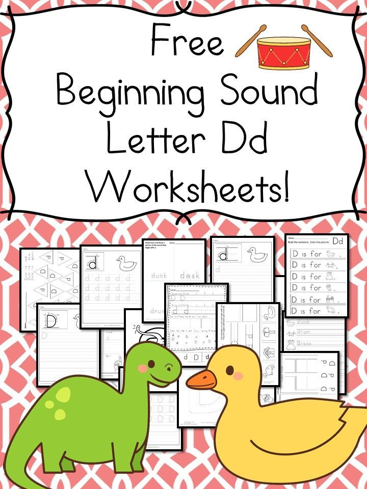 18 Free Letter D Beginning Sound Worksheets with easy download | Kid ...