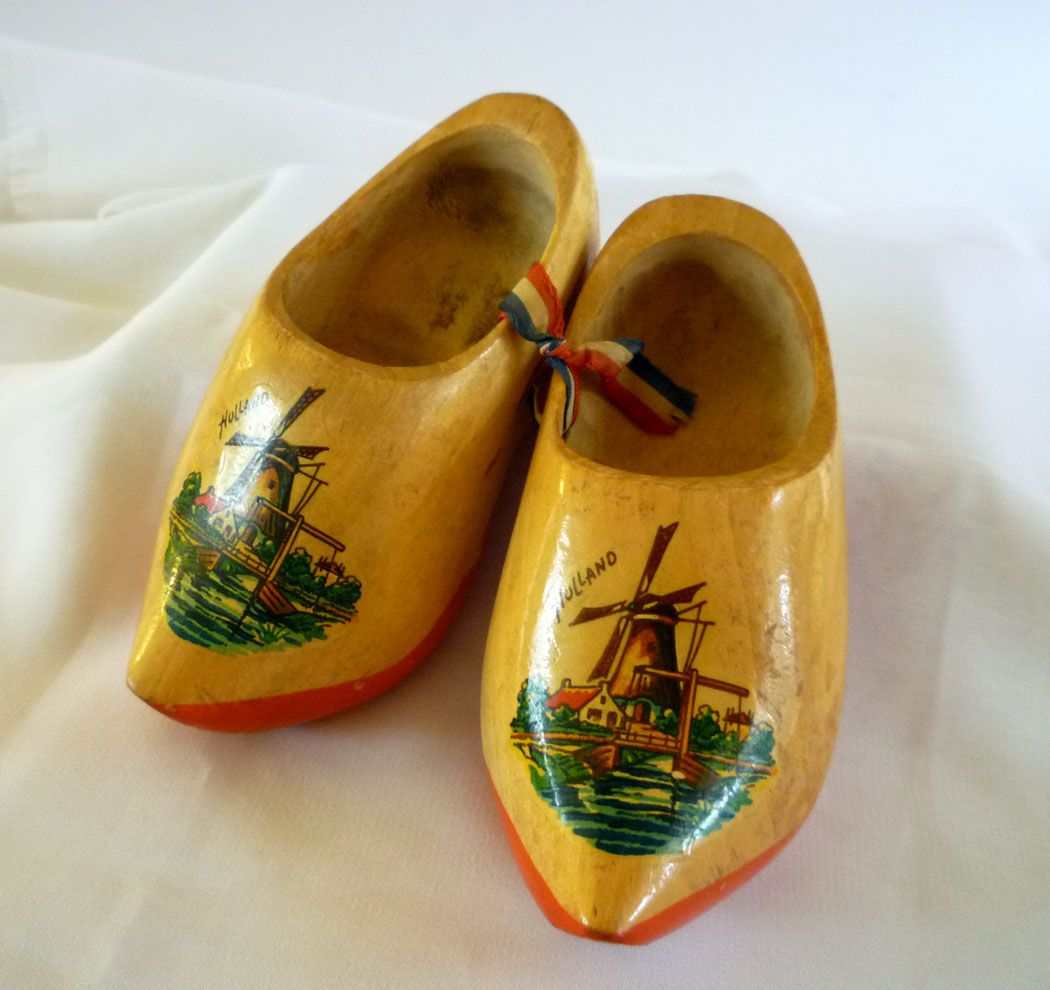 Vintage Miniature Dutch Wooden Shoes From The 1970s These Little