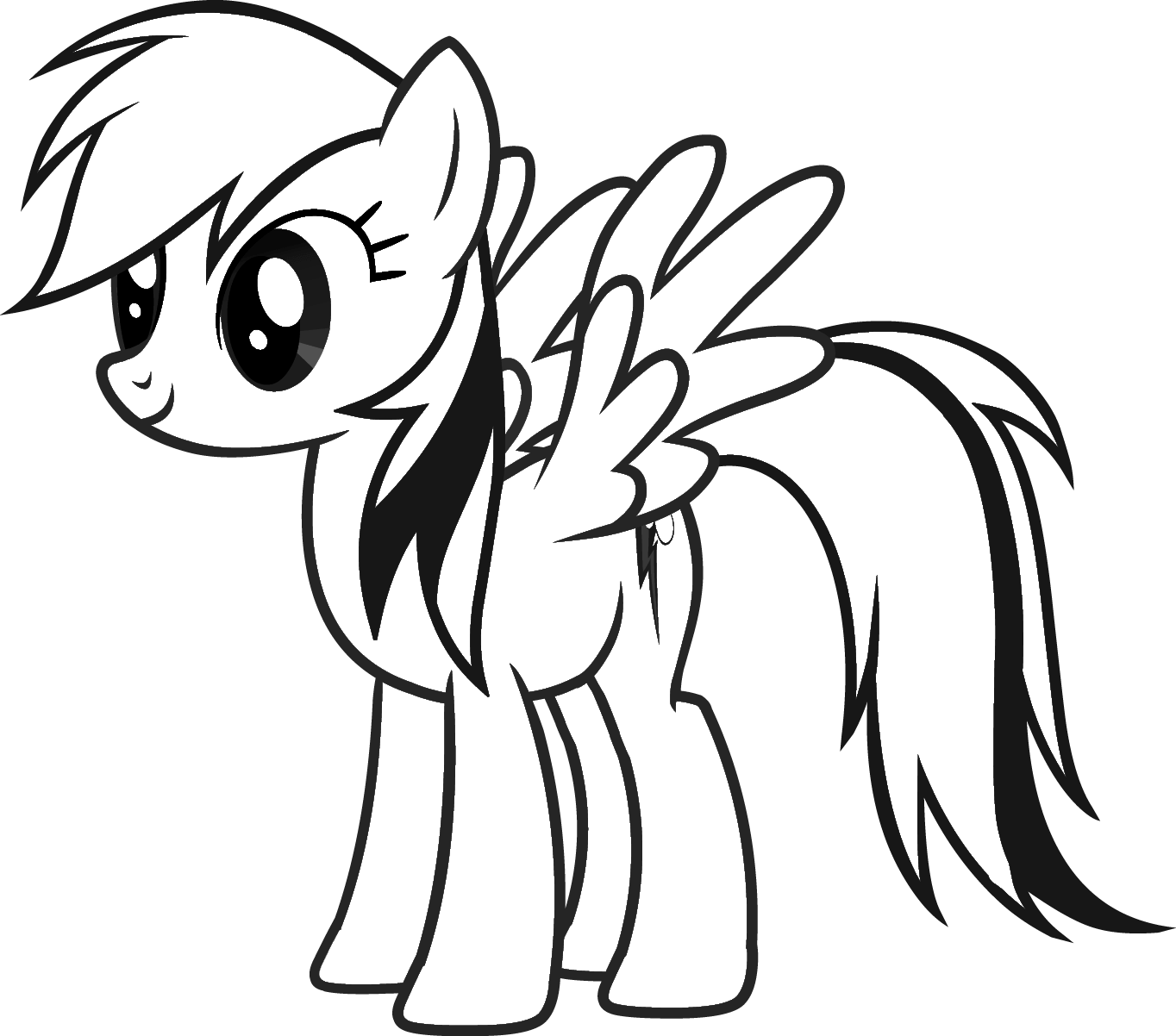 Mlp coloring pages dj pon 3 - My Little Pony Coloring Pages Free My Little Pony Rainbow Dash Coloring Page