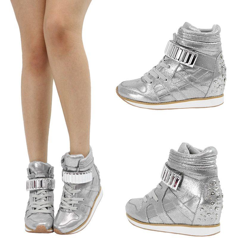 silver high top sneakers women - Google