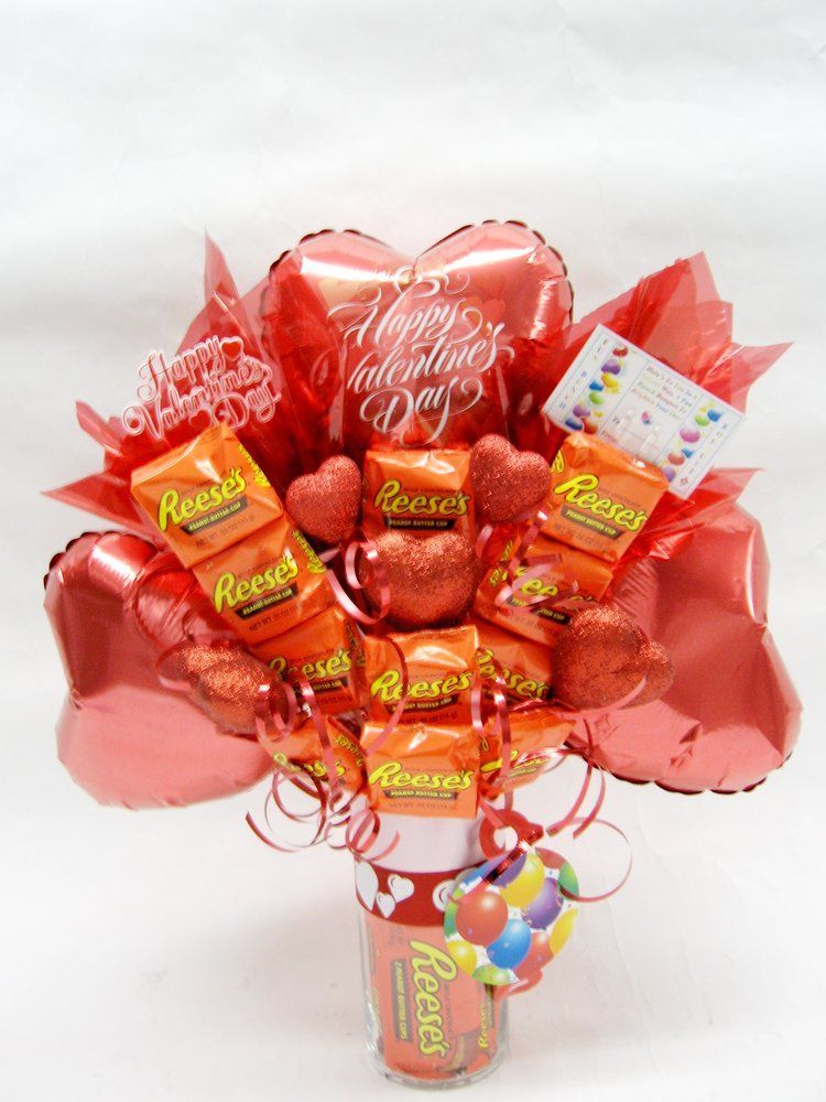 Fun Bunch 3 Balloons Reese S Candy Bars Bouquet Valentine S Day Theme 44 99 Yelp Valentines Candy Bouquet Candy Bouquet Valentine S Day Gift Baskets