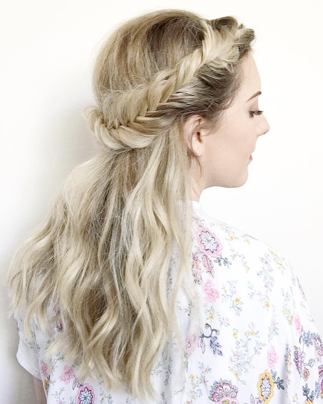 love this half up fishtail style. #hairandmakeupbyemily
