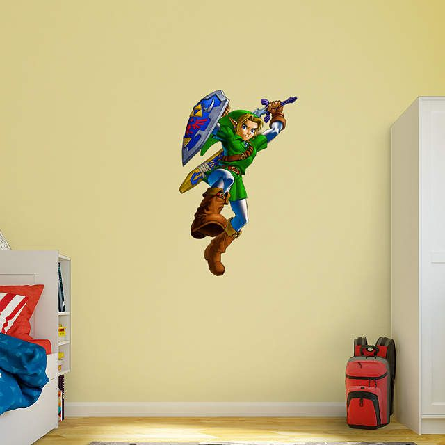 Fathead The Legend of Zelda - Link Wall Decal Blue  sc 1 st  Pinterest & Link™: The Legend of Zelda™ | Wall decals Room ideas and Walls