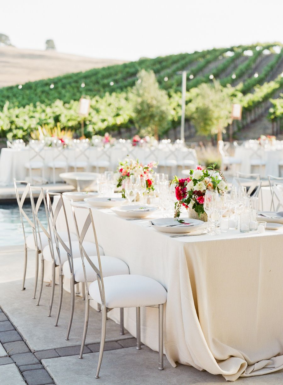Chic wine country wedding with pops of pink weddings pinterest