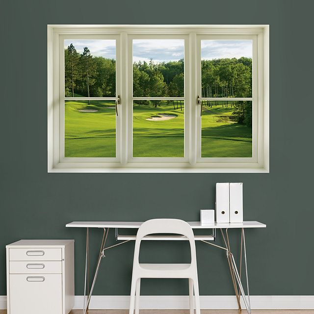 Office Pictures For Walls Golf: Instant Window: Spring Golf Tee Box