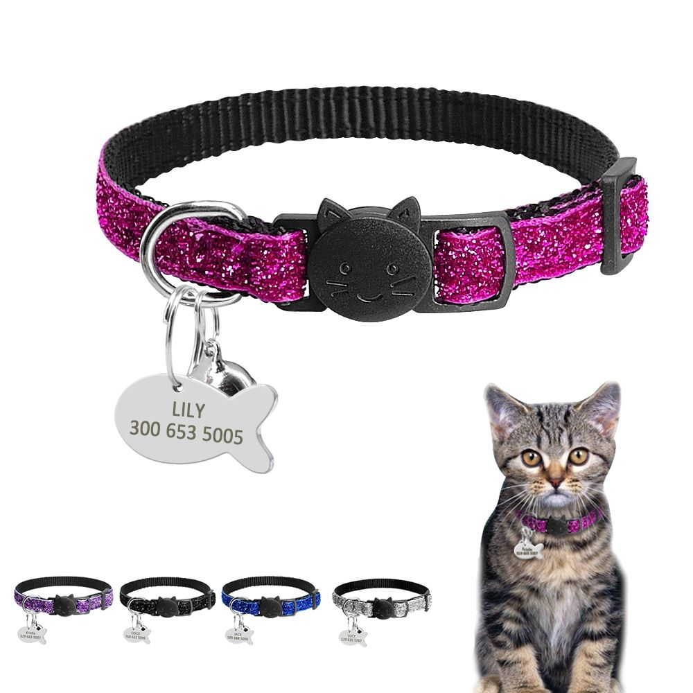 Pet Collar With Fish Shaped Id Tag Price 9 95 Free Shipping Petstore Cat Collars Kitten Collars Pet Collars