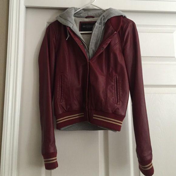 Obey faux leather jacket Obey faux leather varsity jacket, size small Obey Jackets & Coats