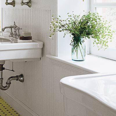25 Bathroom Decorating Ideas On A Budget Beadboard Diy Wainscoting Dining Room Wainscoting