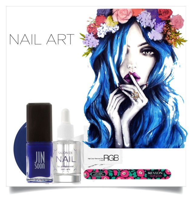 """""""Nails"""" by plainjayne2010 ❤ liked on Polyvore featuring RGB, It's skin, RGB Cosmetics and Jin Soon"""