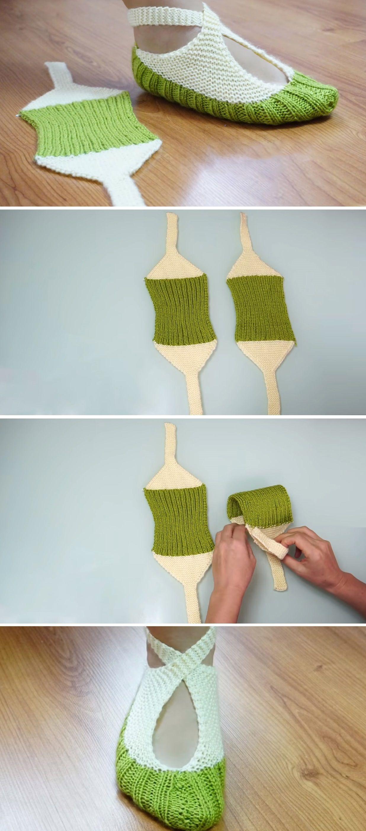 Slippers Tutorial – Very Easy to Make | tejidoen dosagujas ...