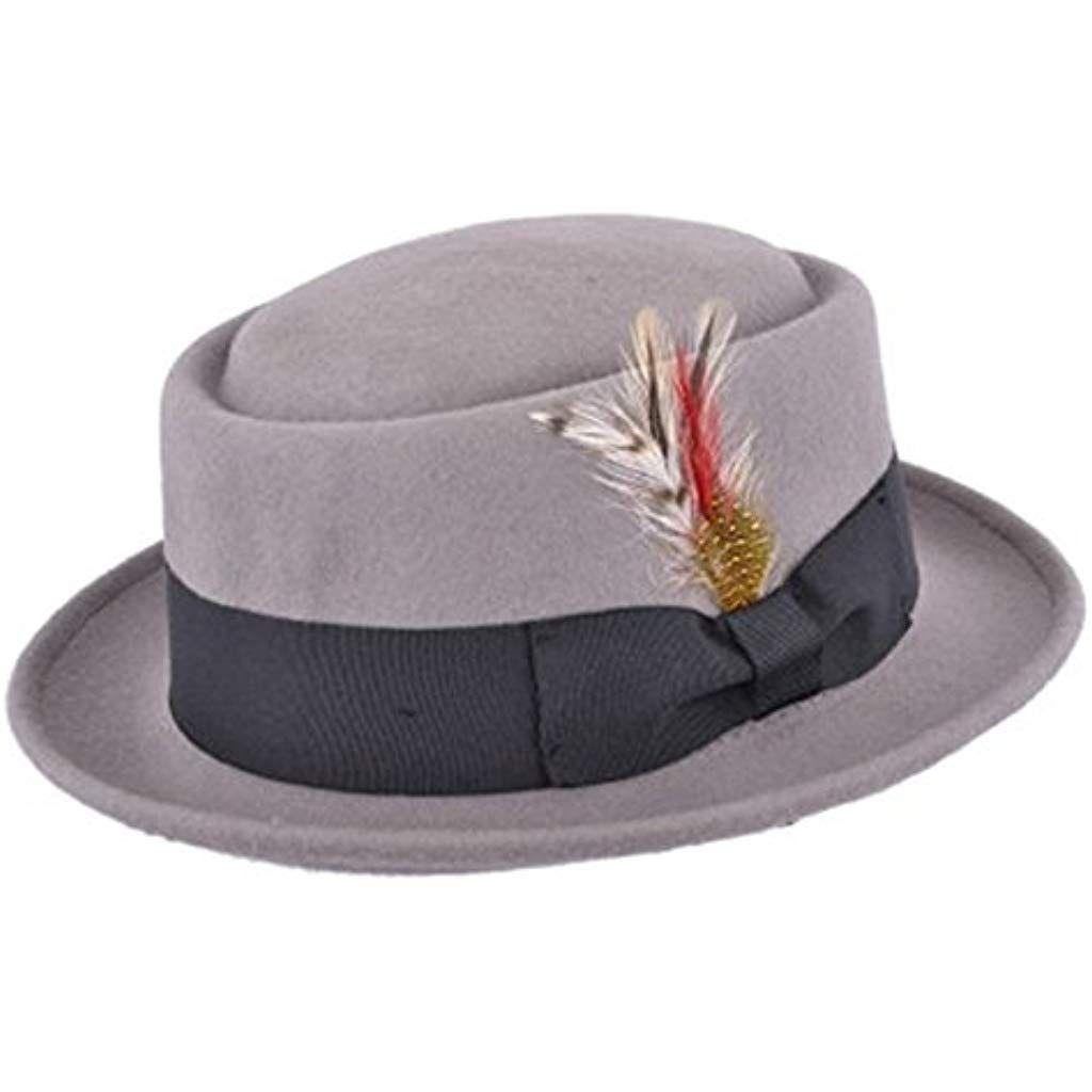 6cb4dd23204f6e Chapeau mou avec plumes et bandeau décoratifs Unisexe 100% laine Fait à la  main #