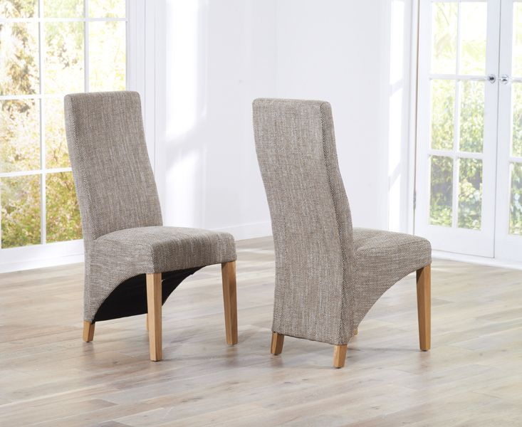 henley tweed fabric dining chairs | fantastic furniture