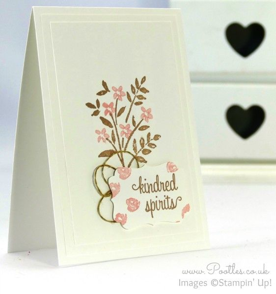 Stampin' Up! Demonstrator Pootles - Pretty Soft Floral Card for Kindred Spirits!