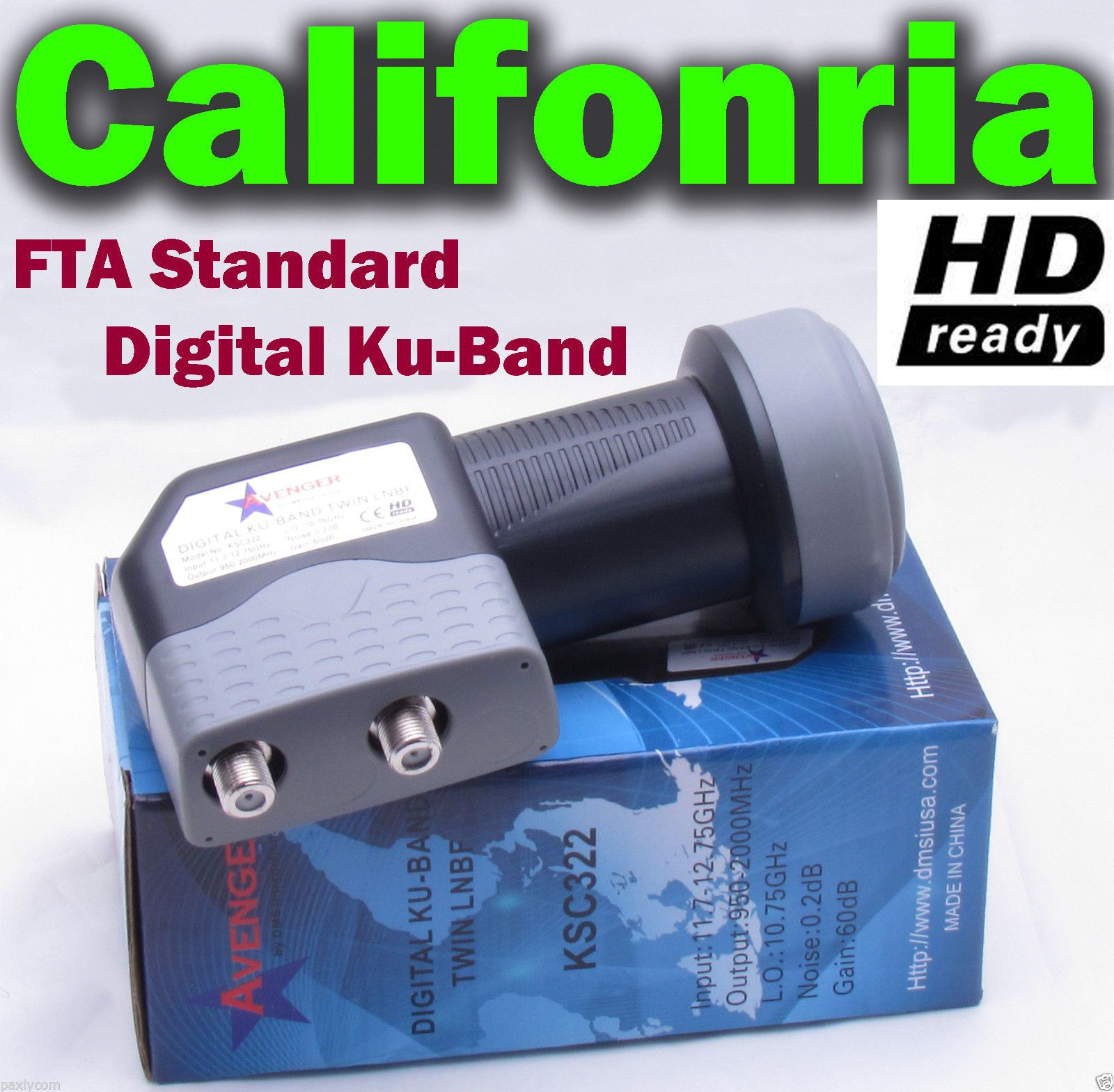 Dual Twin Double Standard Ku Band Fta Lnb 0 2 Db Lnbf Dish Hd Ready Two Output Ebay Ku Band Double Standards Ebay