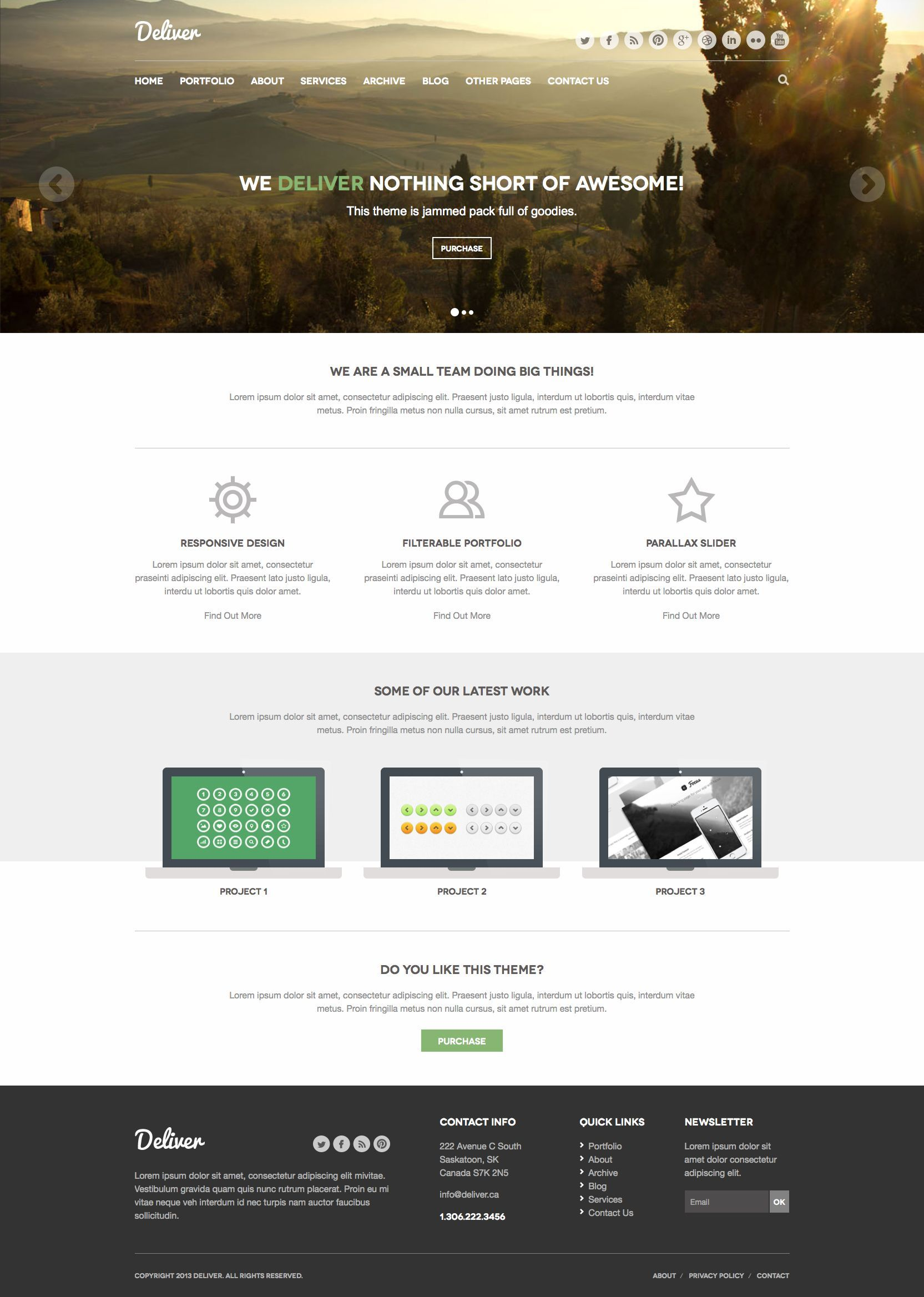 Deliver Responsive Html Template Brand Marketing Design Html Templates Templates