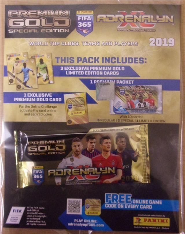 FIFA 365 Adrenalyn XL 2019 Trading Card Premium Gold Pack