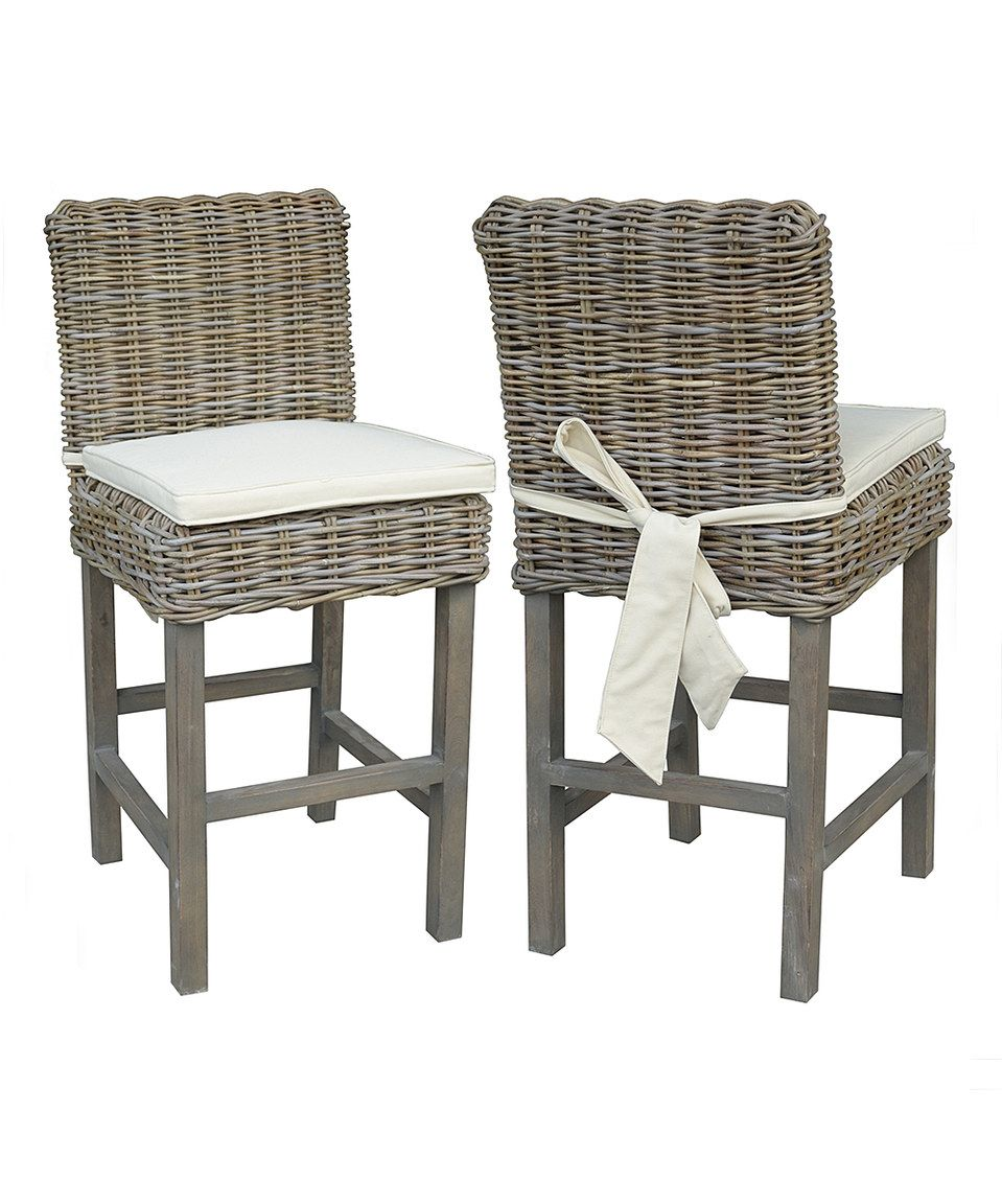 This Samurai Rattan Counter Stool by Jeffan is perfect! #zulilyfinds