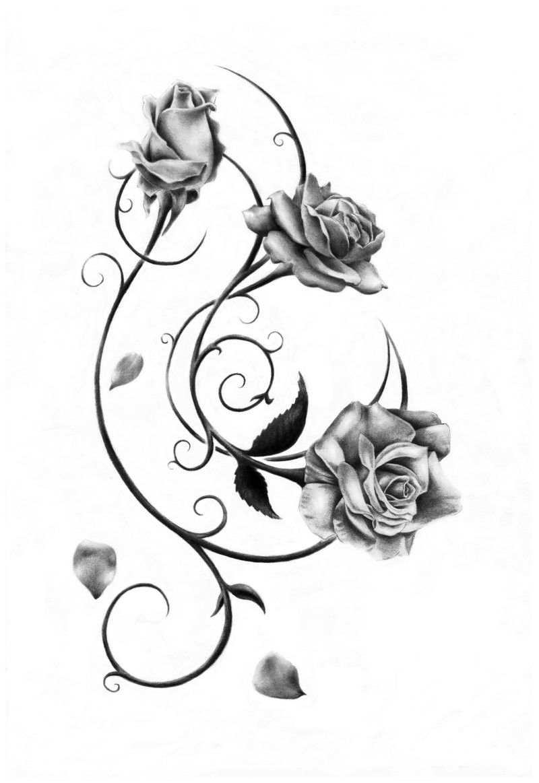37+ Dessin tatouage rose femme ideas in 2021