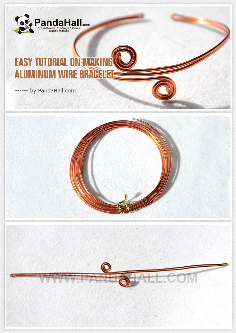 Easy Tutorial on Making Aluminum Wire Bracelet | Jewelry Making ...