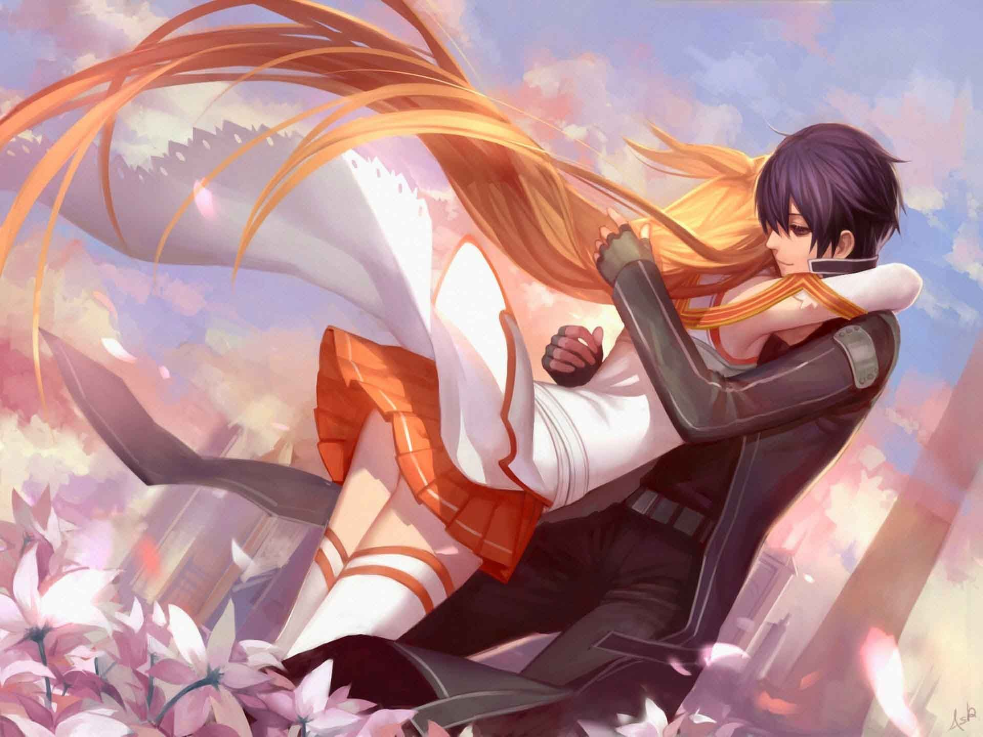 Download Anime Hug Wallpaper By Dj Ivory 5e Free On Zedge Now Browse Millions Of Popular Anime W Sword Art Sword Art Online Kirito Sword Art Online Asuna
