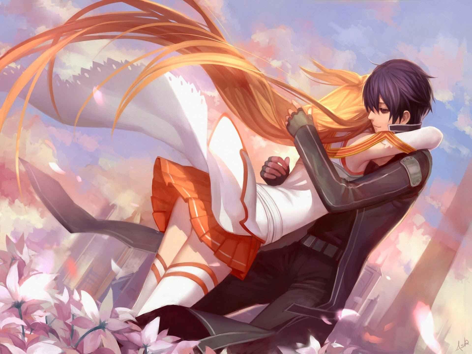 Anime Couple Hug Latest Hd Wallpapers Free Download New Hd Wallpapers Download Anime Love Sword Art Online Asuna Sword Art Online