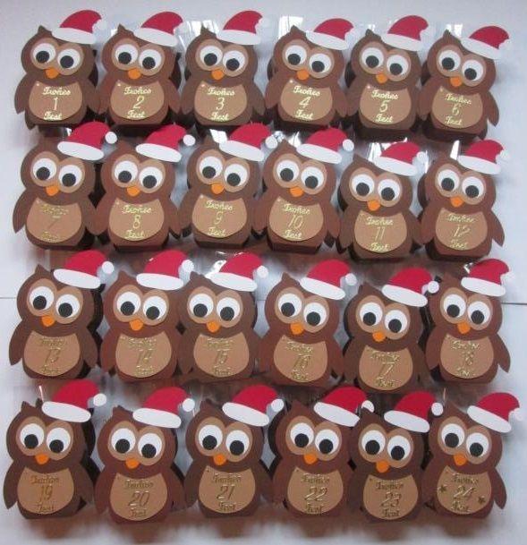 Eulen Adventskalender Http De Dawanda Com Product 71841227 Adventskalender Eulen Adventskalender Kinder Basteln Adventkalender Adventkalender Basteln