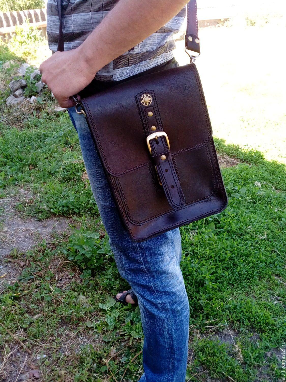 276a4f4c3998 Мужская сумка из натуральной кожи (черная/корчневая) № 36 - купить или  заказать в интернет-магазине на Ярмарке Мастеров | Сумка-планшет из  натуральной кожи…
