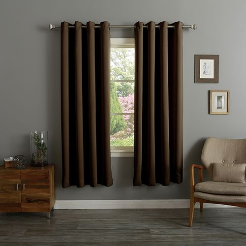 Chocolate 52 X 72 In Thermal Insulated Blackout Curtain Panel - Cortinas-marron-chocolate