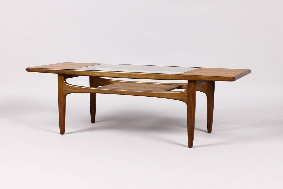 #640 U2014 Vintage Danish Modern / Mid Century Rectangular Teak Coffee Table U2013  G