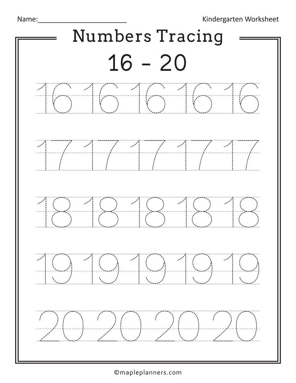 Free Printable Numbers Tracing 1 20 Worksheets For Kids In 2020 Kindergarten Math Worksheets Free Tracing Worksheets Free Free Printable Numbers