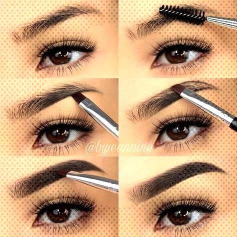 So füllen Sie Ihre Augenbrauen mit Bleistift / Eyeliner / Lidschatten / Puder - Samantha Fashion L